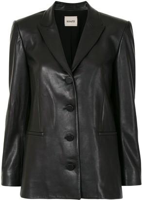KHAITE Joan leather blazer