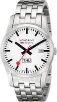 Mondaine Men's A667.30340.16SBM Retro Gents Day-Date Leather Band Watch