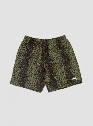 Leopard Water Short Olive