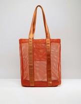 Asos LIFESTYLE Mesh And Webbing Shopper Bag