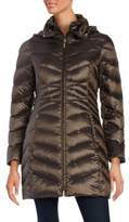 Ellen Tracy Packable Hooded Puffer Coat