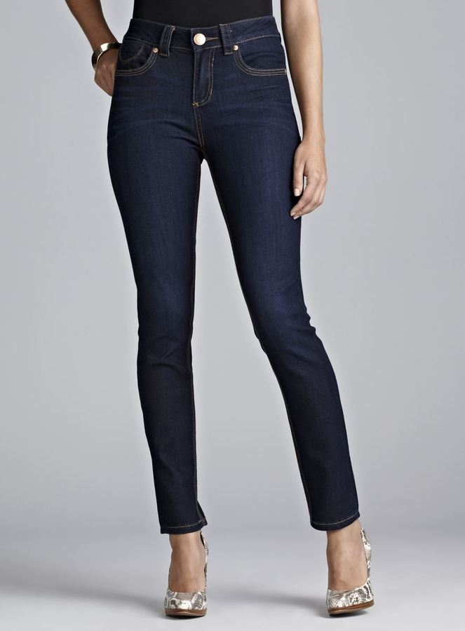 7 For All Mankind Seven7 Dark High Rise Skinny Jeans