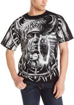 Liquid Blue Men's Plus-Size Wolf Dreamcatcher T-Shirt