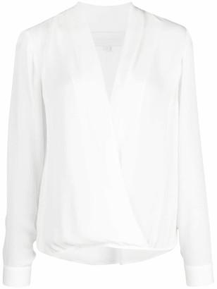 Mason by Michelle Mason wrap-style silk blouse