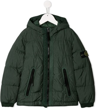 Stone Island Junior Hooded Puffer Jacket
