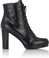 Barneys New York Women's Lace-Up Platform Ankle Boots-BLACK