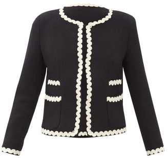 Max Mara Salmone Jacket - Black White