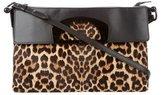 Christian Louboutin Leopard Print Ponyhair Satchel