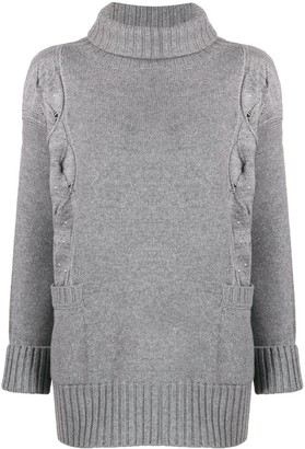 Lorena Antoniazzi Embroidered Sequin Jumper