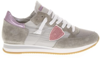 Philippe Model Grey Tropez Higher Sneakers In Suede