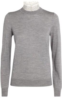 Sandro Ruffle-Collar Sweater
