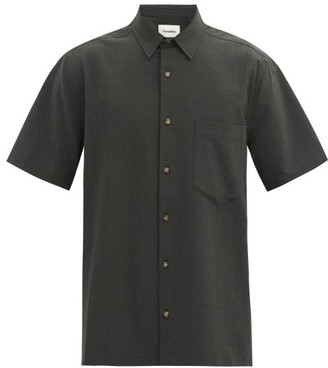 Nanushka Adam Gingham-seersucker Shirt - Green Multi