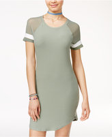 Ultra Flirt Juniors' Illusion-Sleeve T-Shirt Dress