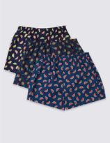 Marks and Spencer 3 Pack Pure Cotton Printed Boxers