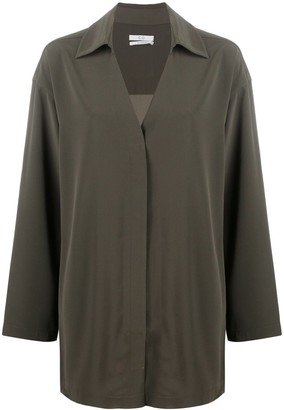 Co oversized V-neck blouse