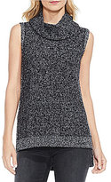 Vince Camuto Two by Sleeveless Marble Cowl Neck Sweater