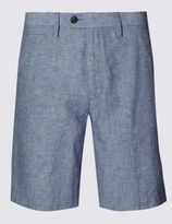 Marks and Spencer Linen Blend Chambray Chino Shorts