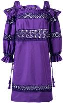 Alberta Ferretti embroidered dress - women - Cotton/other fibers - 40