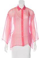 Jil Sander Sheer Button-Up Blouse