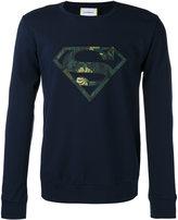 Iceberg Superman patch logo sweatshirt - men - Polyamide/Polyester/Spandex/Elastane/Viscose - M