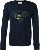 Iceberg Superman patch logo sweatshirt - men - Polyamide/Polyester/Spandex/Elastane/Viscose - S