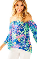 Lilly Pulitzer Sanilla Silk Off The Shoulder Top