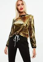 Missguided Slay Sequin Top