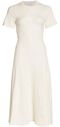 Proenza Schouler White Label Cutout Back Ribbed Knit Dress