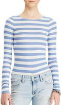 Denim & Supply Ralph Lauren Striped Rib-Knit Bodysuit