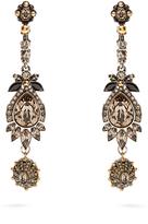 Alexander McQueen Crystal-embellished drop earrings