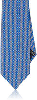 Salvatore Ferragamo Men's Double Gancio-Print Silk Necktie