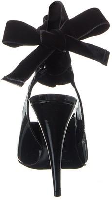 Saint Laurent Venus 110 Patent & Velvet Pump