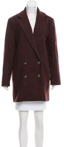 Theory Wool Double-Breasted Coat