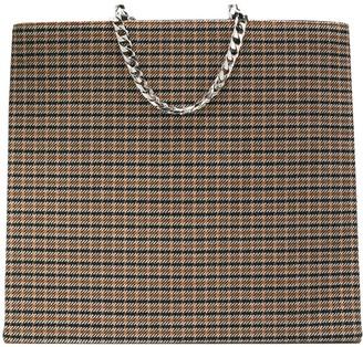 Victoria Beckham Tweed Shopping Tote Bag