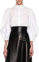 Alexander McQueen Victorian Full-Sleeve Blouse, White