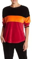 Trina Turk Colorblock Velour Sweatshirt