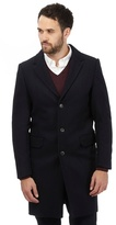 J By Jasper Conran Big And Tall Navy Herringbone Patterned Overcoat