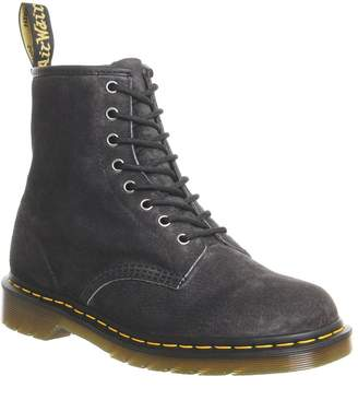 Dr. Martens 8 Eye Lace Boots Graphite Grey Soft Buck