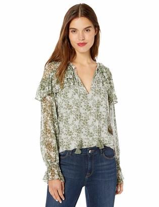 Ramy Brook Women's Floral Printed Celeste Long Sleeve TOP