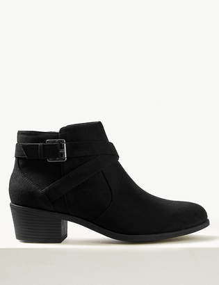 M&S CollectionMarks and Spencer Side Buckle Ankle Boots