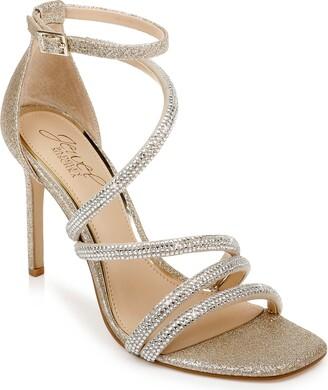 Badgley Mischka Nikkol Crystal Embellished Sandal