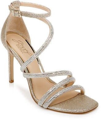 Badgley Mischka Nikkol Crystal Embellished Sandal