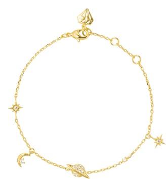 Wanderlust + Co Drops Of Saturn Gold Sterling Silver Bracelet