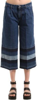 Sonia Rykiel Denim Jeans With Striped Released Hem