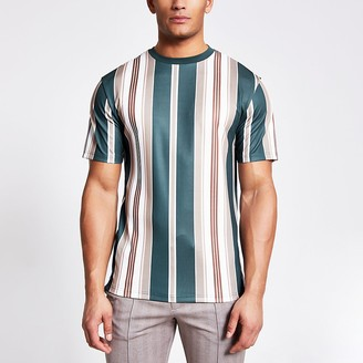 River Island Navy stripe short sleeve T-shirt