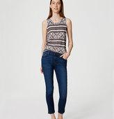 LOFT Slim Vent Crop Jeans in Dark Indigo Wash