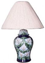 Fine Crafts & Imports Lily Talavera Ceramic Lamp