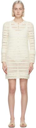 Saint Laurent Off-White Crochet Jane Mini Dress