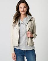Le Château Faux Leather Asymmetrical Jacket