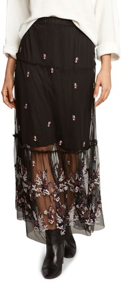 Willow & Clay Embroidered Midi Skirt